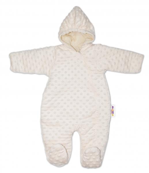 Baby Nellys Kombinézka/overálek Minky, zateplená - smetanová, vel. 68, Velikost: 68 (4-6m)