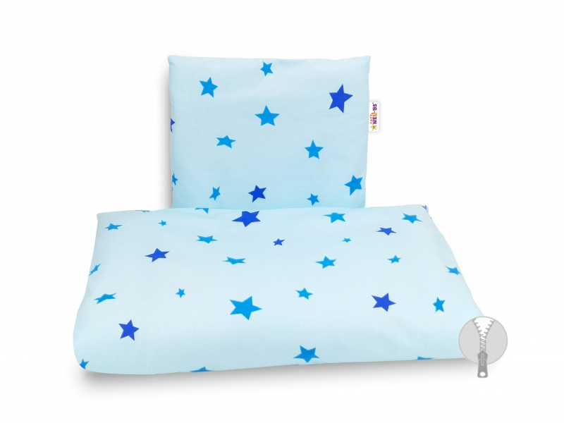 4-dílná sada do kočárku, Baby Nellys - Hvězdičky modré