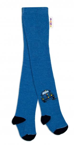 Baby Nellys Bavlněné punčocháče Brouček - jeans, vel. 104/110