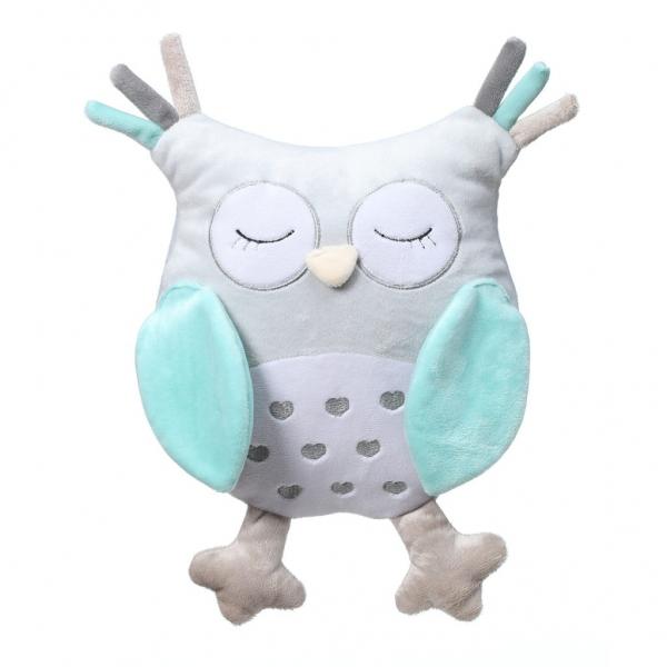 BabyOno Plyšová hračka s chrastítkem Owl Sofia - modrá