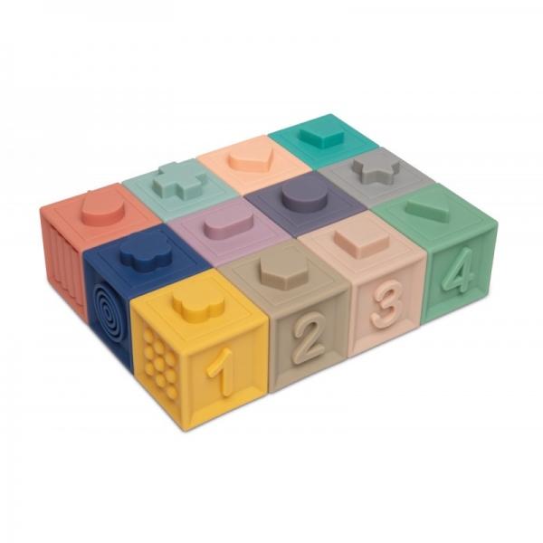 Měkké senzorické hrací kostky Canpol babies - 12 ks