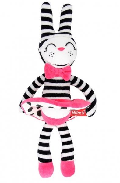 Hencz Toys Plyšová hračka v kontrastních barvách králíčí slečna - růžová