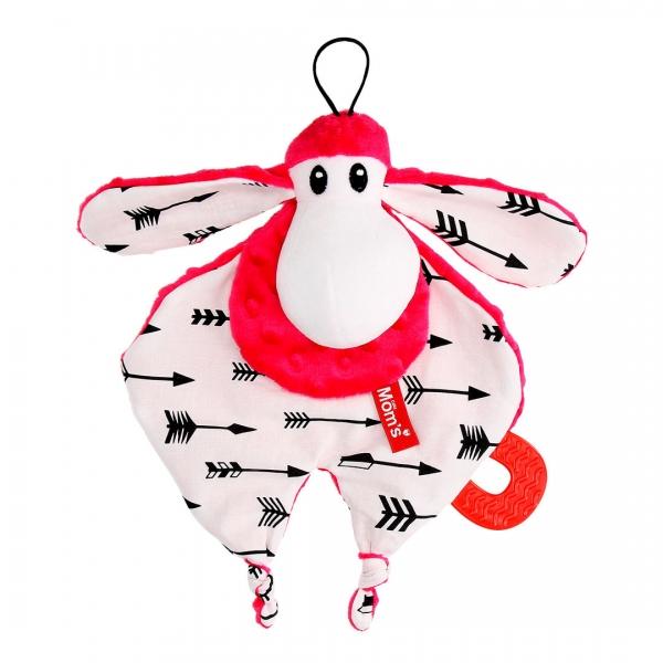Hencz Toys Plyšová hračka v kontrastních barvách Sheepi - růžová