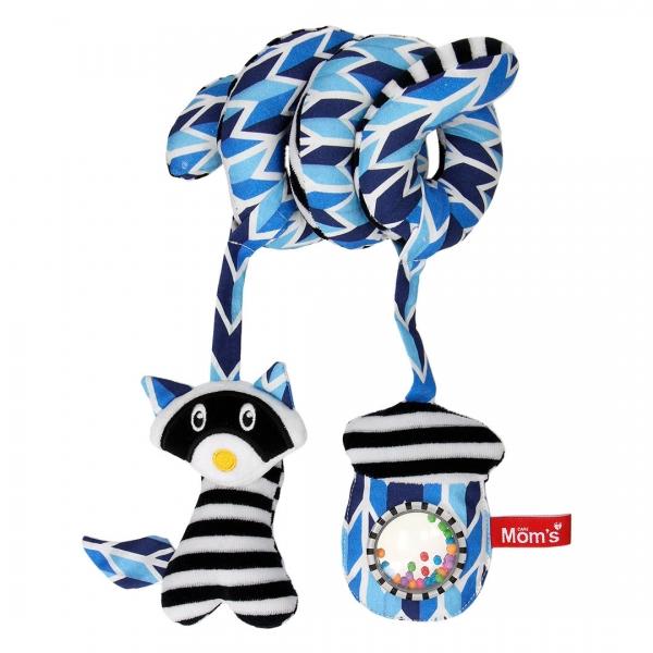 Hencz Toys Edukační hračka Hencz s chrastítkem a zrcátkem, ShopHop - spirálka - modrá