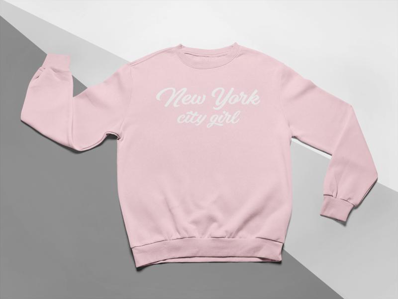 KIDSBEE Moderní dětská dívčí mikina New York City Girl - růžová, vel. 128