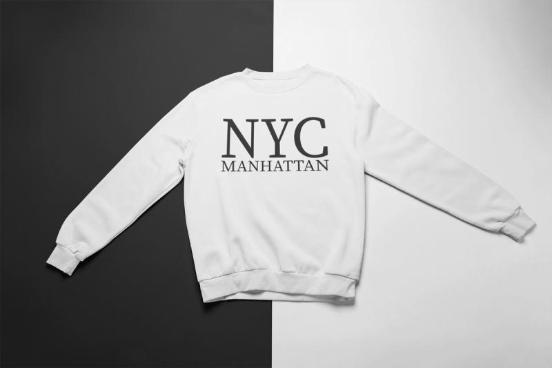 KIDSBEE Super klučičí tepláková mikina Nyc Manhattan - bílá