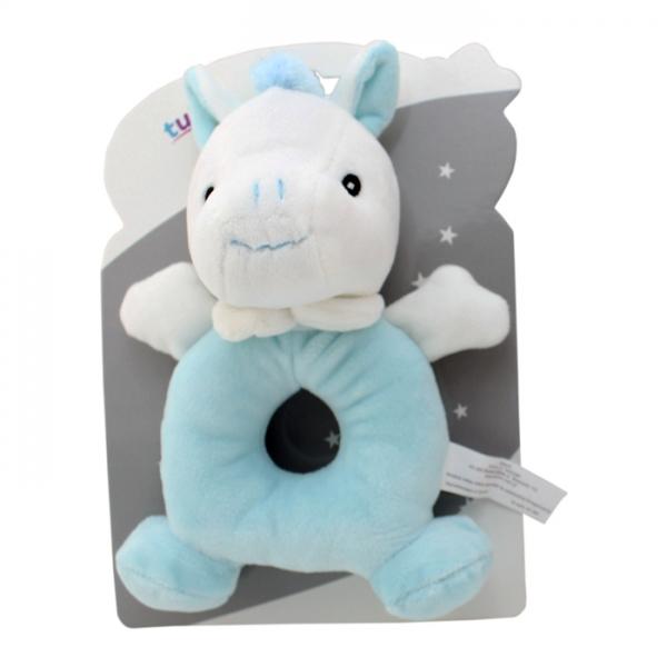 Plyšová hračka Tulilo s chrastítkem Oslík, 18 cm - mátová