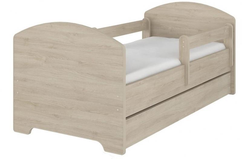 NELLYS Dětská postel SABI v barvě světlý dub s šuplíkem + matrace zdarma. 160x80