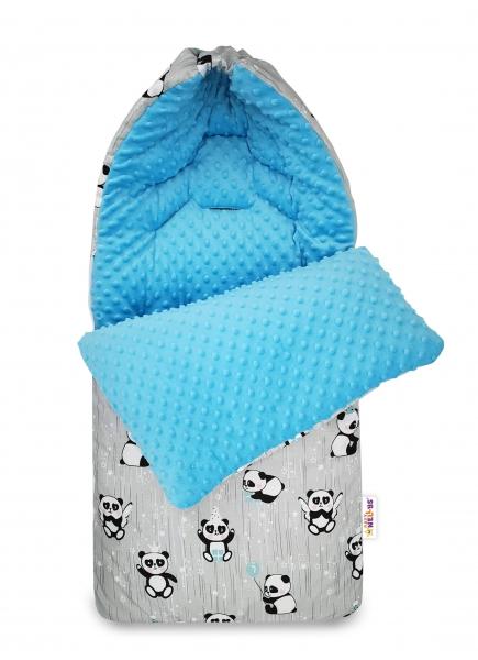 bavlneny-fusak-baby-nellys-minky-happy-panda-45-x-95-cm-seda-minky-modra