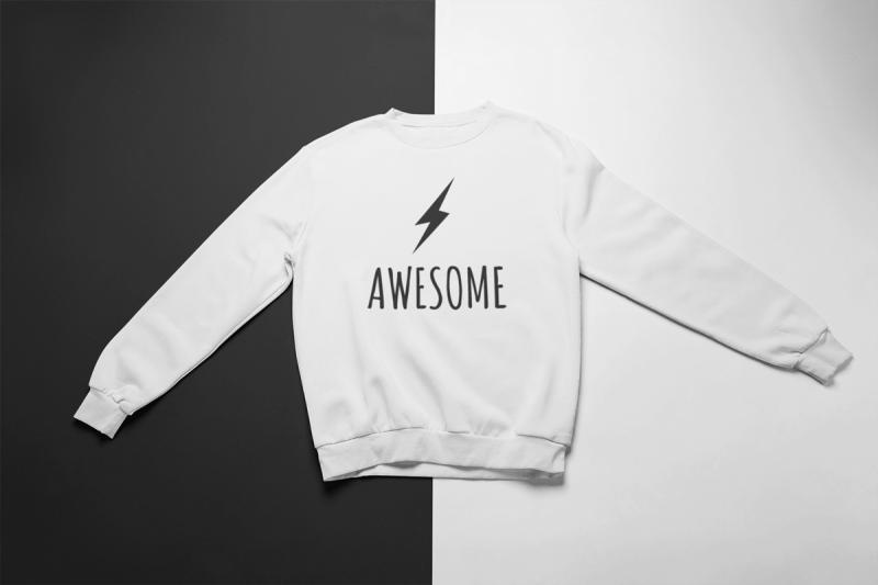 KIDSBEE Super klučičí tepláková mikina Awesome - bílá, vel. 140