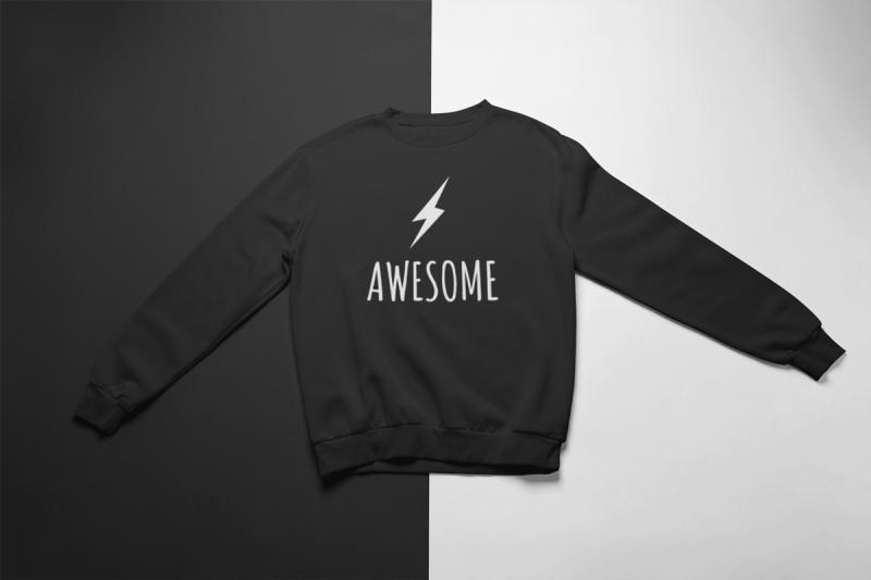 KIDSBEE Super klučičí tepláková mikina Awesome -  černá
