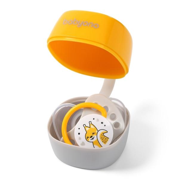 BabyOno Pouzdro na dudlík Natural Nursing - žluté