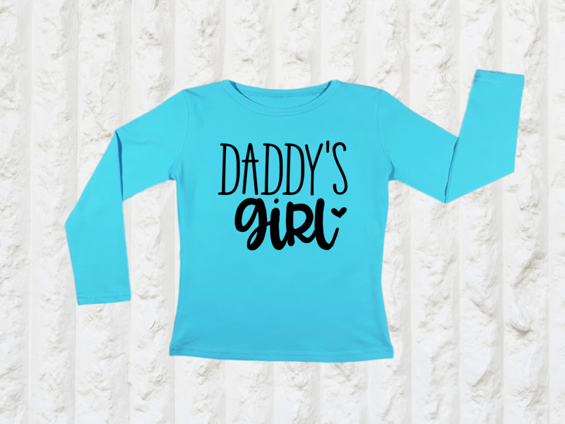 KIDSBEE Dívčí bavlněné tričko Daddy´s Girl - tyrkysové