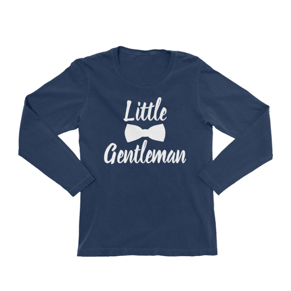KIDSBEE Chlapecké bavlněné tričko Little Gentleman - granátové, vel. 116