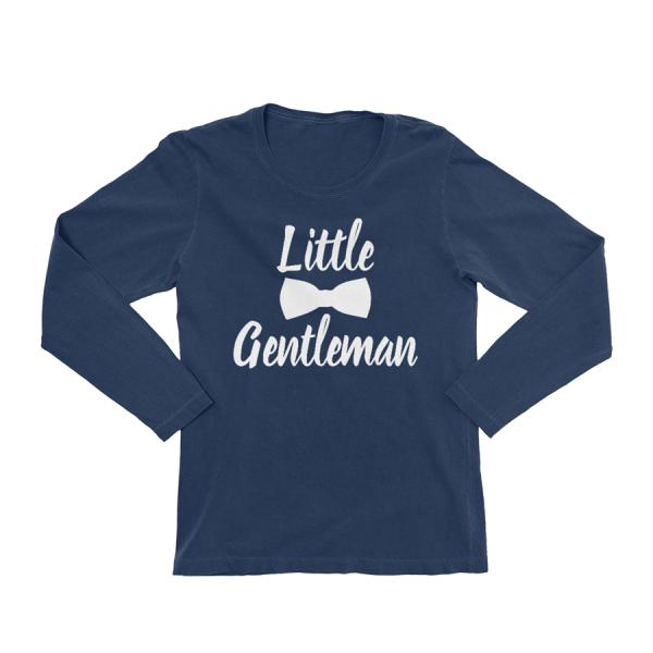 KIDSBEE Chlapecké bavlněné tričko Little Gentleman - granátové, vel. 140