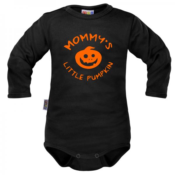 Body dlouhý rukáv Dejna Mommy´s Little Pumpkin - černé, vel. 74, Velikost: 74 (6-9m)