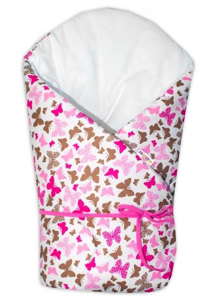 Zavinovačka na zavazování Baby Nellys - Motýlci růžoví