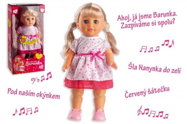 Panenka Barunka chodící a česky zpívající plast 42cm na baterie se zvukem v krabici 2