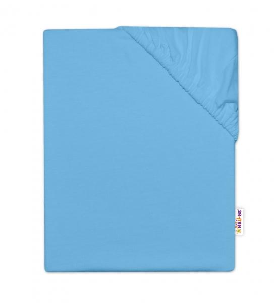 Baby Nellys Dětské jersey prostěradlo do postýlky - modrá, 140 x 70 cm