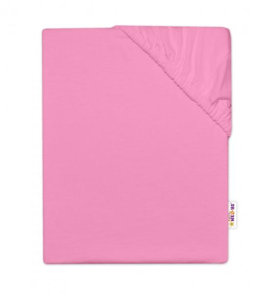 Baby Nellys Dětské jersey prostěradlo do postýlky - růžová, 140 x 70 cm, Velikost: 140x70