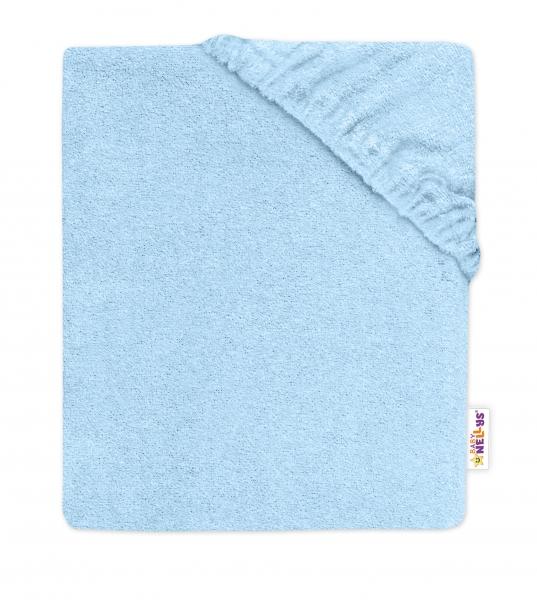 Baby Nellys Dětské froté prostěradlo do postýlky - sv. modré, 140x70cm, Velikost: 140x70
