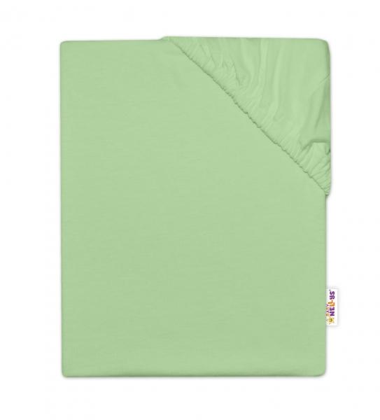 Baby Nellys Dětské jersey prostěradlo do postýlky - zelená, 140x70cm, Velikost: 140x70