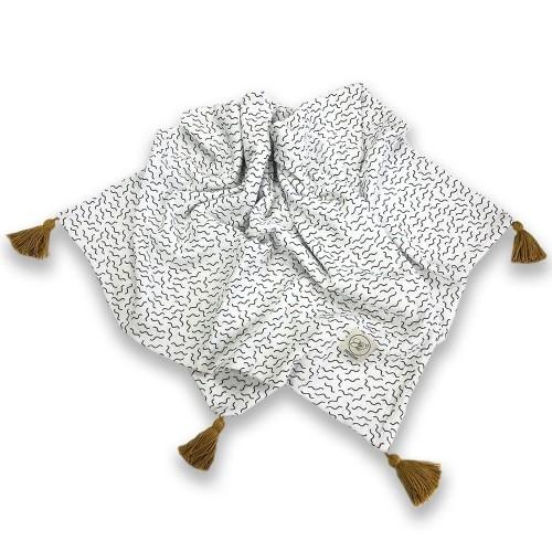 Cosy Cott Dětská mušelínová zavinovací dečka 65x100 cm Vlny - bílá
