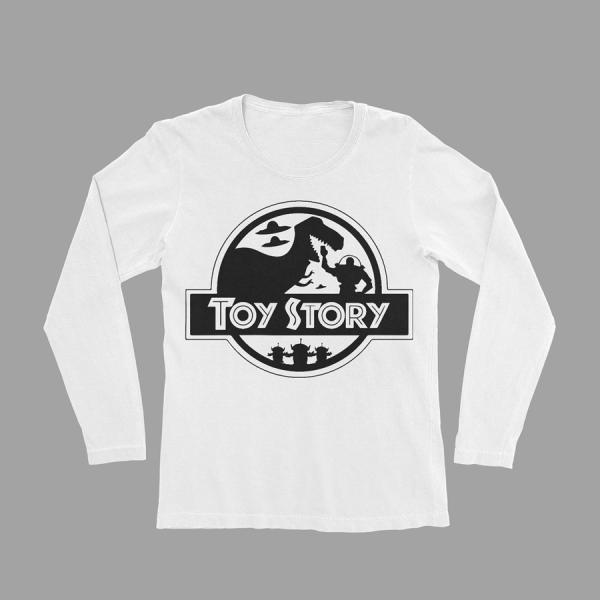 KIDSBEE Chlapecké bavlněné tričko Toy Story - bílé, vel. 122