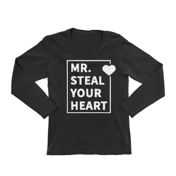 KIDSBEE Chlapecké bavlněné tričko MR. Steal your heart - černé, vel. 128