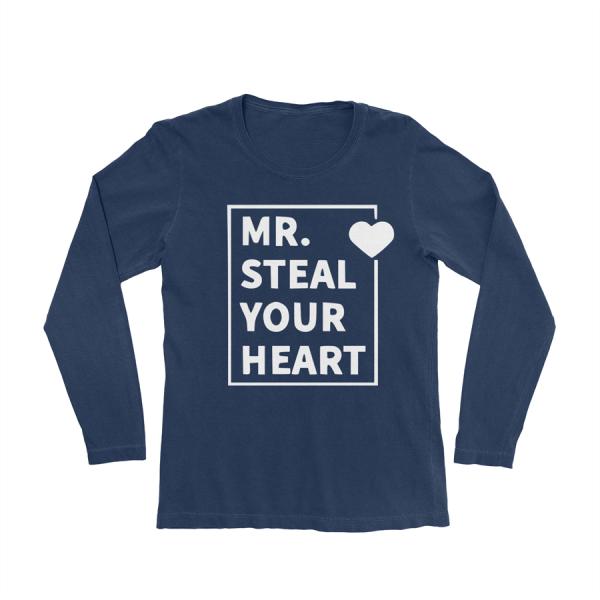 KIDSBEE Chlapecké bavlněné tričko MR. Steal your heart - granátové, vel. 116