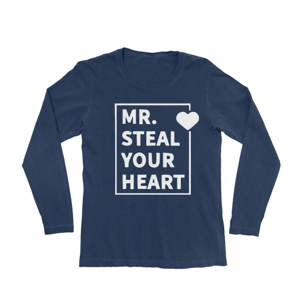 KIDSBEE Chlapecké bavlněné tričko MR. Steal your heart - granátové, vel. 122