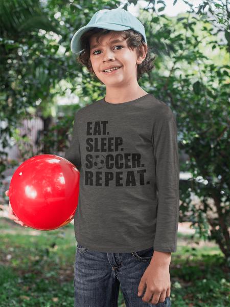 KIDSBEE Chlapecké bavlněné tričko Soccer - grafitové, vel. 104
