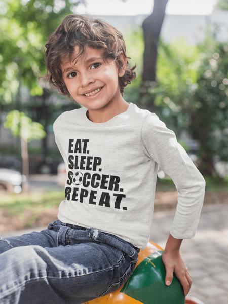 KIDSBEE Chlapecké bavlněné tričko Soccer - sv. šedé, vel. 140
