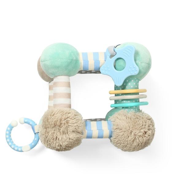 BabyOno Plyšová edukační závěsná hračka Cube - mátová