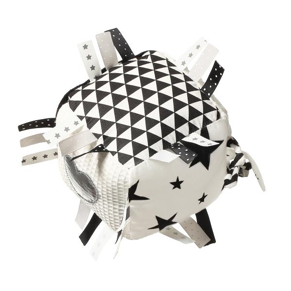 BabyOno Plyšová edukační hračka Cube - bílá/černá