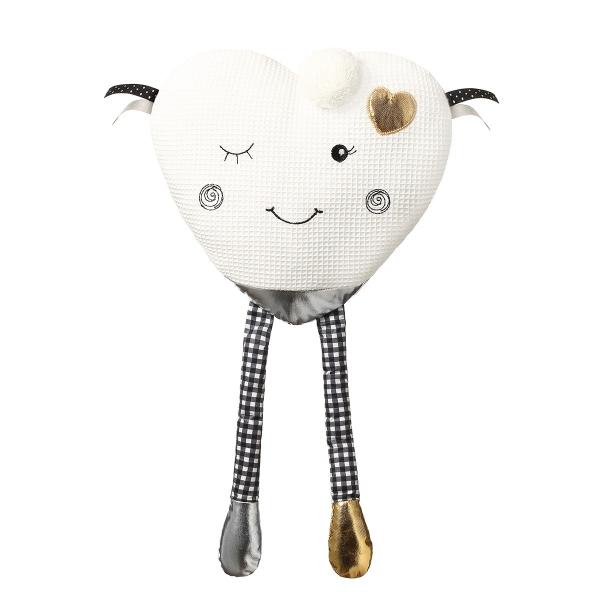 BabyOno Plyšová hračka Blinky Heart - bílá