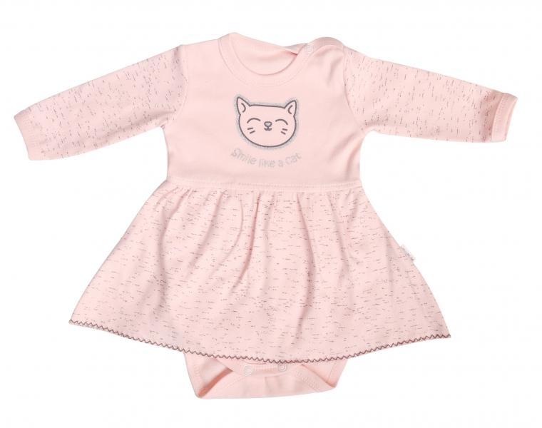 Mamatti Bavlněné sukničkobody Cat - dlouhý rukáv, vel. 86