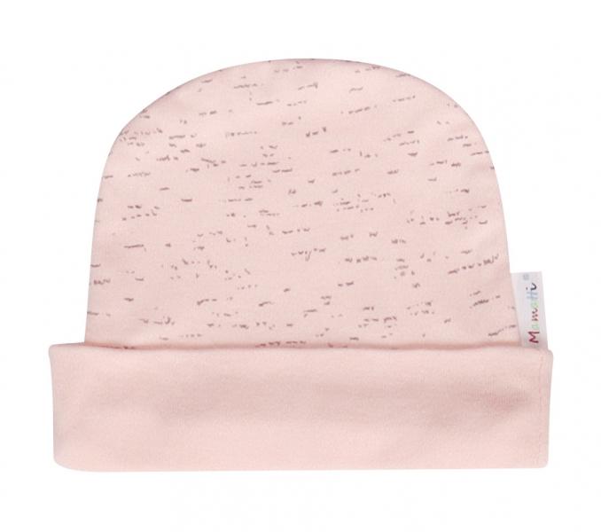 Mamatti Bavlněná čepička Cat - růžová