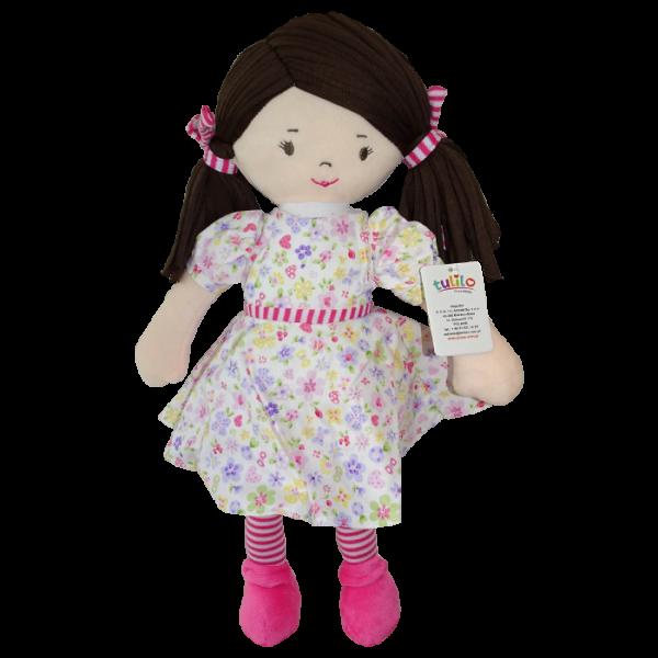 Hadrová panenka Malvínka, Tulilo, 40 cm - růžová