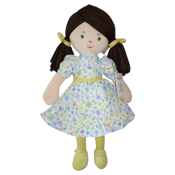 Hadrová panenka Malvínka, Tulilo, 40 cm - žlutá