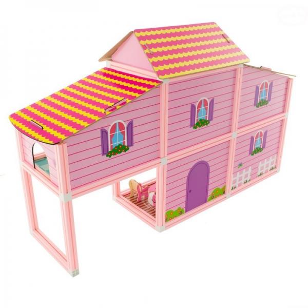 Euro Baby Růžový domek pro panenky