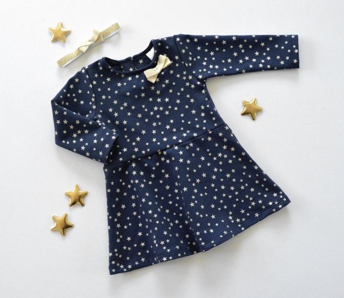 K-Baby Kojenecké šatičky Hvězdička - granát/zlatá, vel. 74