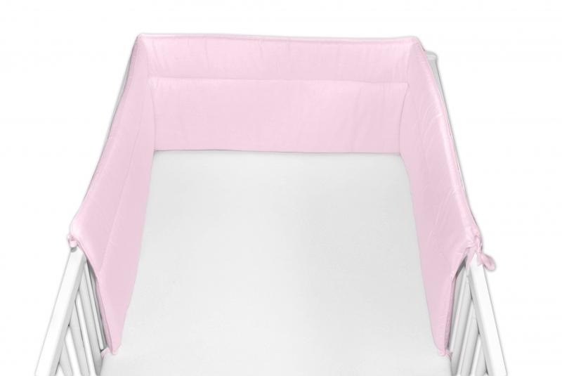 Baby Nellys Mantinel do postýlky 30x180 cm - sv. růžový