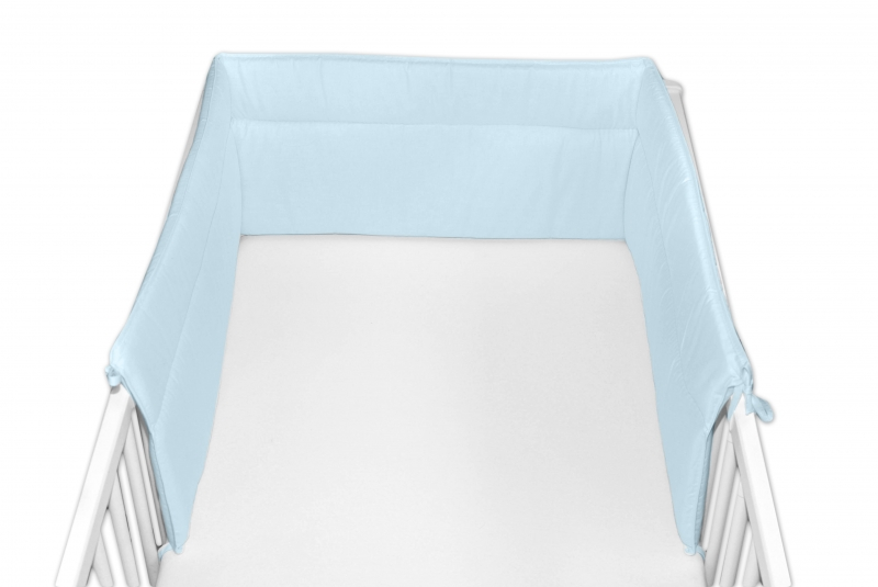 Baby Nellys Mantinel do postýlky 30x180 cm - sv. modrý