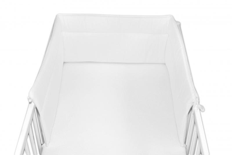 Baby Nellys Mantinel do postýlky 30x180 cm - bílý