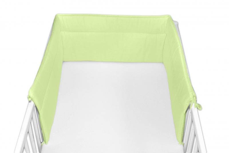 Baby Nellys Mantinel do postýlky 30x180 cm - zelený