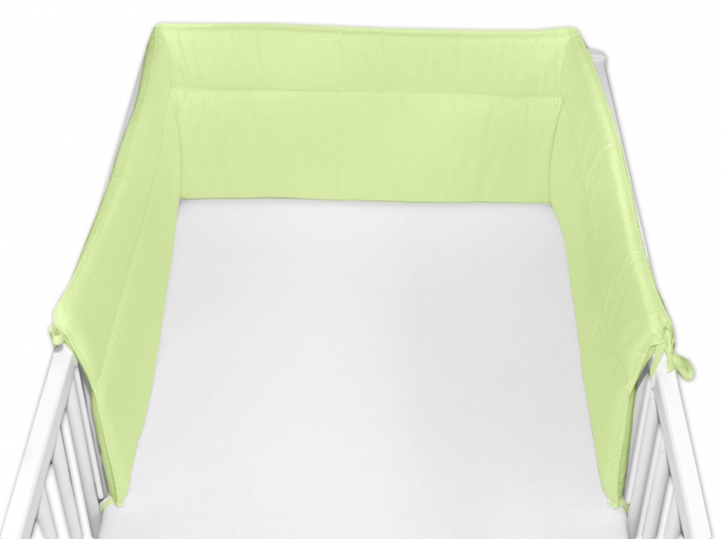 Baby Nellys Mantinel do postýlky 30x360 cm - zelený