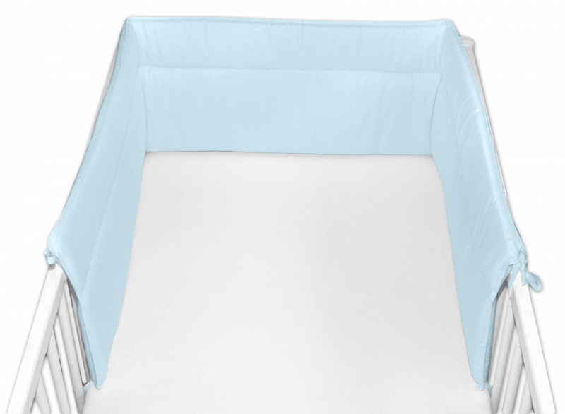 Baby Nellys Mantinel do postýlky 30x360 cm - sv. modrý
