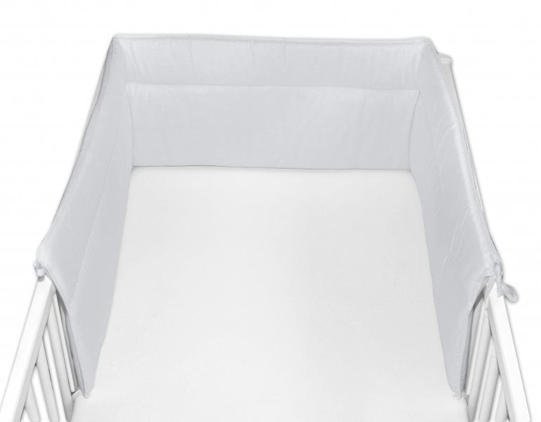 Baby Nellys Mantinel do postýlky 30x360 cm - sv. šedý