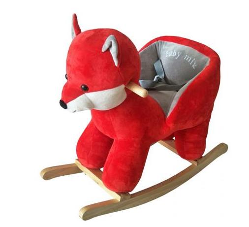 Baby Mix Houpací liška s melodií - červená
